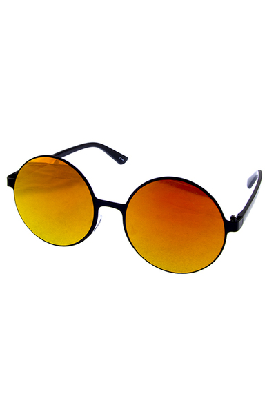 Womens blended round style sunglasses