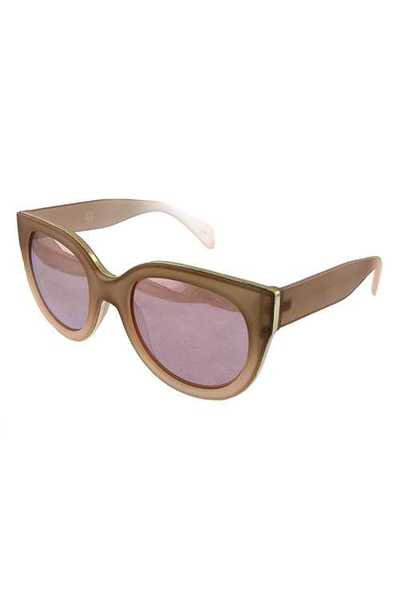 Womens rounded high pointed fashion sunglasses