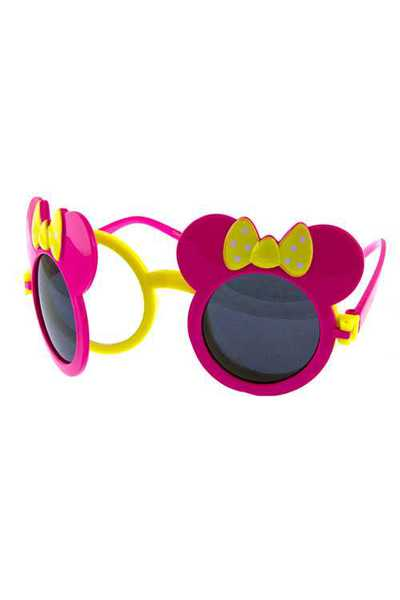 Kids Cute Plastic Bowtie Rounded Sunglasses