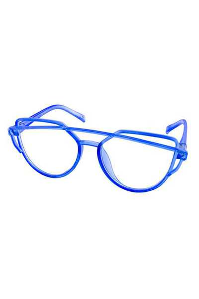 Kids clear lens square rebar aviator sunlgasses