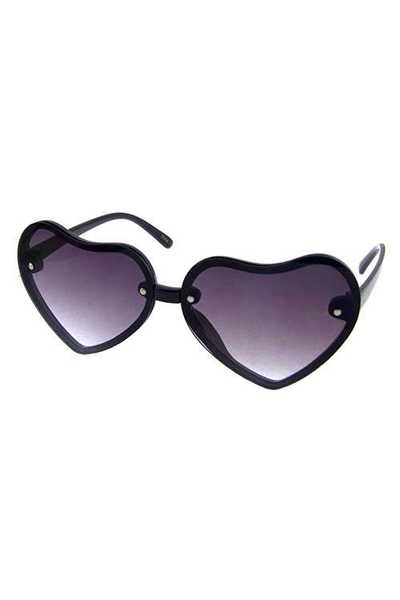Womens heart shaped plastic fashion sunglasses