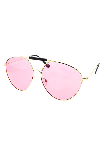 OVERSIZED REBAR WOMENS COLORED UV400 PROTECTED SUNGLASSES