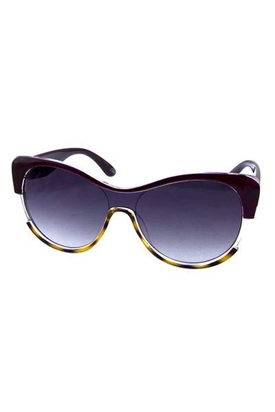 Womens horn rimmed dapper fashion sunglasses