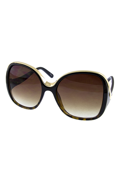 Womens square blended fashion plastic sunglasses