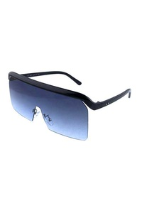 Womens rimless square fashion plastic sunglasses