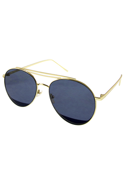 Womens double rebar aviator indie fashion sunglasses