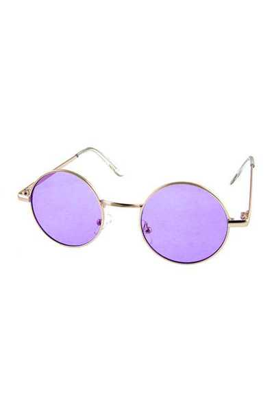 Womens geometric circle metal sunglasses