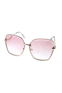 Womens elegant metal square curvy arm sunglasses
