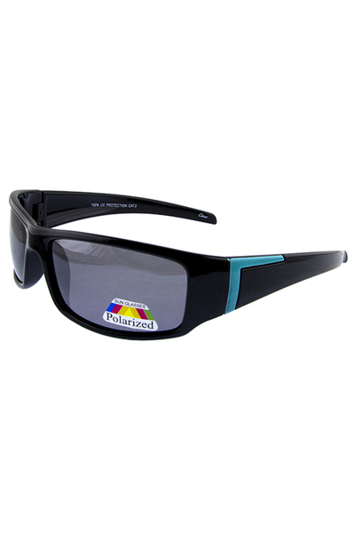 Mens polarized Action square plastic sunglasses