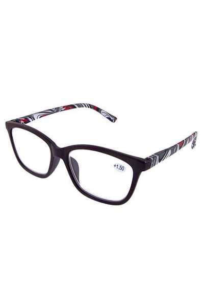 Fashion pattern square plastic reading glasses