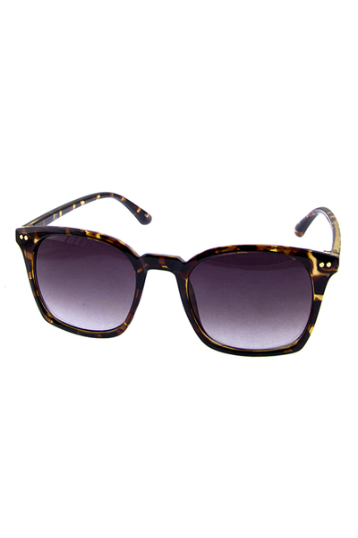 Womens Fully Rimmed Square Style Plastic Classic Sunglasses