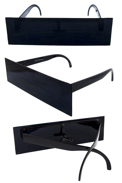 Unisex rectangular retro boxlog style sunglasses