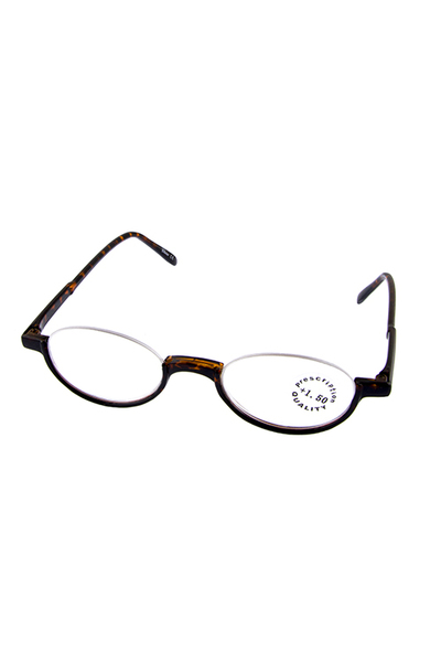 Semi rimmed plastic reader glasses