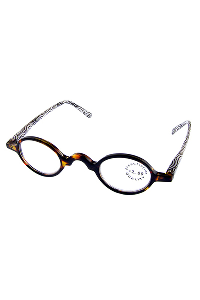 vintage small plastic reader glasses