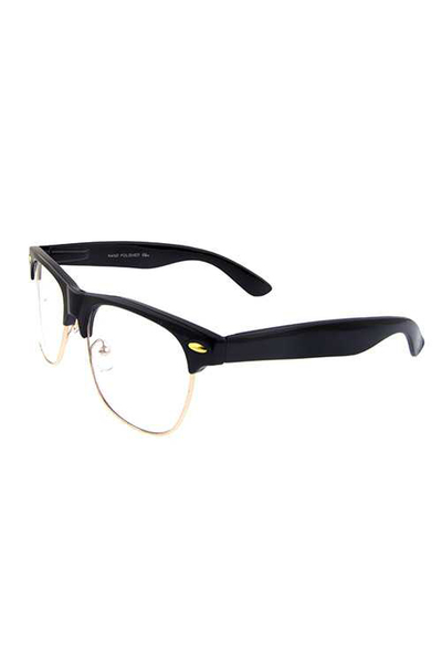 Unisex clear lens horn rimmed style sunglasses