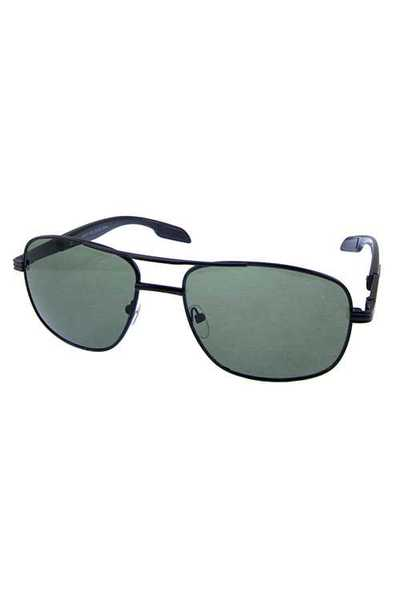 Mens metal square mature style sunglasses