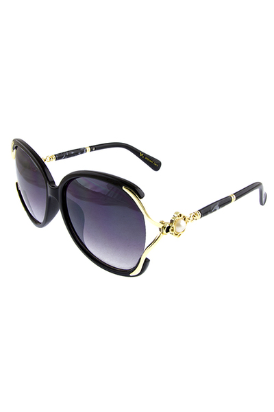 Womens majestic square rhinestone sunglasses