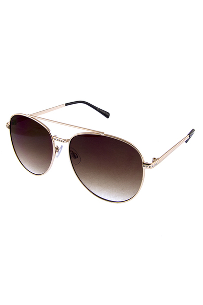 Womens rhinestone aviator metal sunglasses