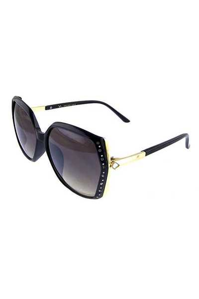Womens rhinestone square blended sunglasses