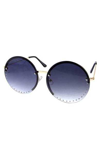 Womens rhinestone round circle fashion sunglasses