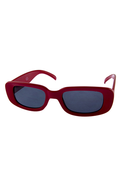 Womens retro rectangular square casual sunglasses