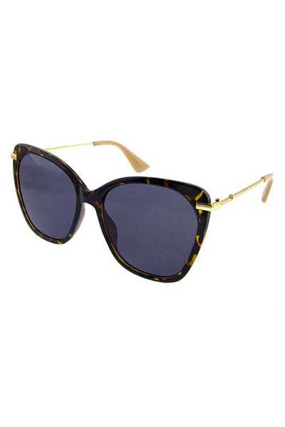 Womens square metal blended style sunglasses