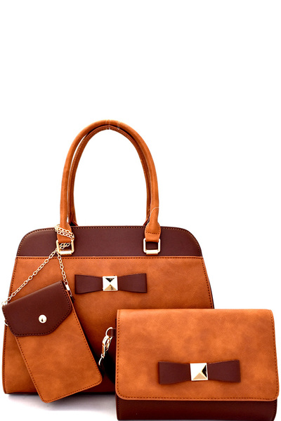 Bow Accent 3 in 1 Satchel SET