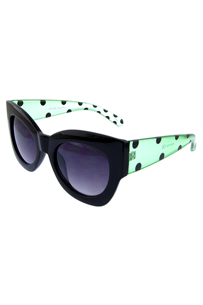 Womens polka style dotted fashion sunglasses