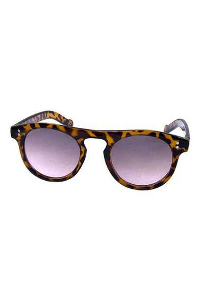 Womens rounded modern plastic style sunglasses