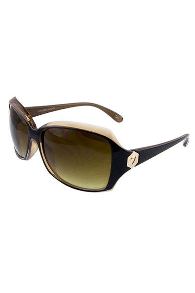 Womens shield temple square plastic sunglasses
