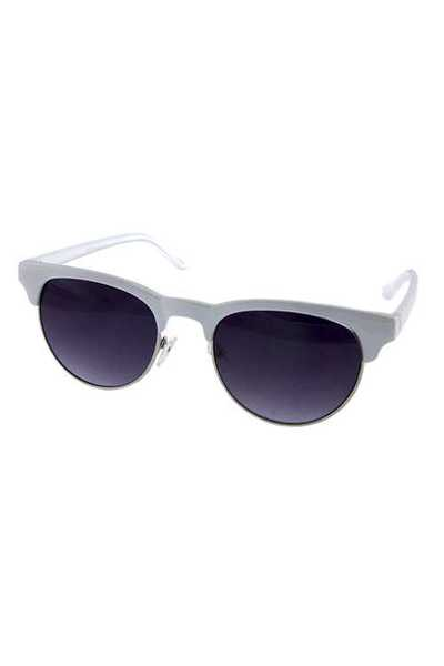 Womens simple horn rimmed square style sunglasses