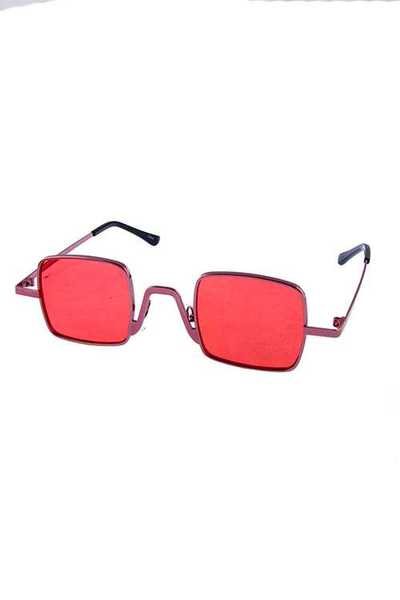 Womens Dapper Square Metal Fashion Sunglasses