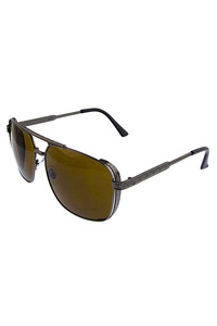 Unisex metal rebar square aviator sunglasses