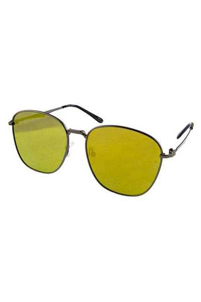 Womens classic square metal fashion sunglasses