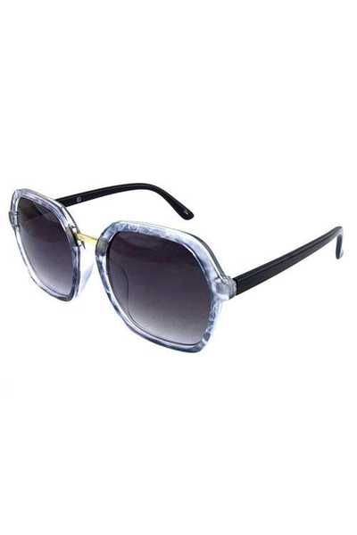 Womens square plastic modern fashion sunglasses