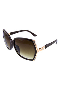 Womens rhinestone detailed square sunglasses