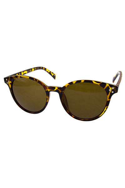 Womens rounded dapper retro plastic sunglasses