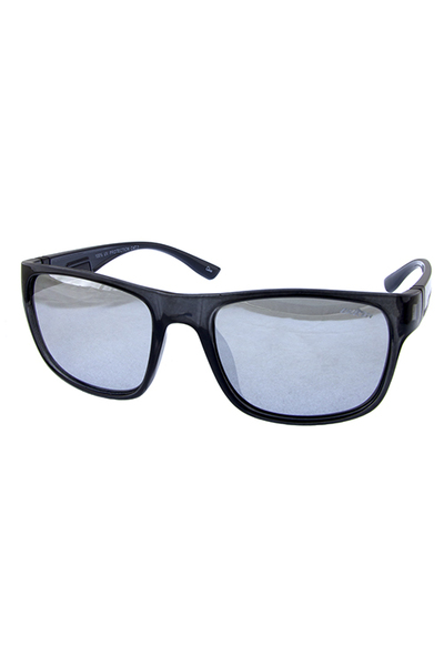 Mens block square horned plastic sunglasses