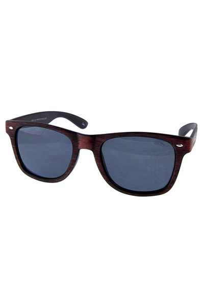 Mens Ekron Wooden horn rimmed square sunglasses