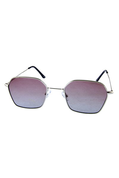 Womens six square side geometric metal sunglasses