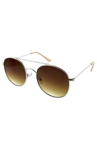 Womens metal fine fashion avaitor sunglasses