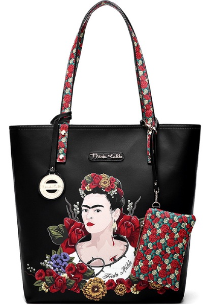 Authentic Frida Kahlo Flower Tall Shopper Tote