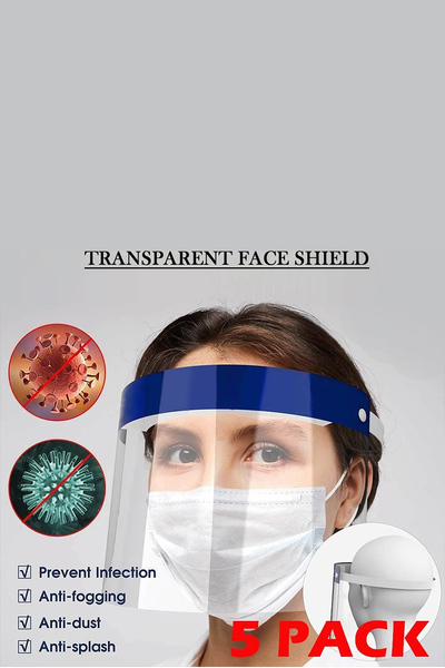 TRANSPARENT FACE SHIELD 5PCS SET