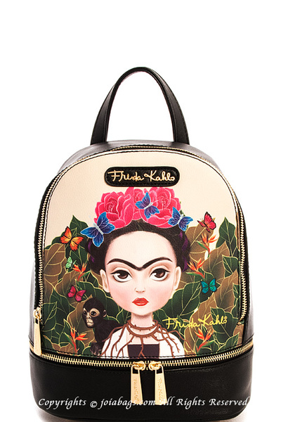 Frida Kahlo Genuine Cute Printed Backpack