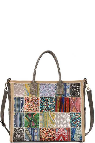 Antik Kraft Multi-colored Patchwork Tote