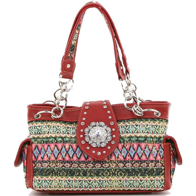Aztec Printed Western Shoulder Bag