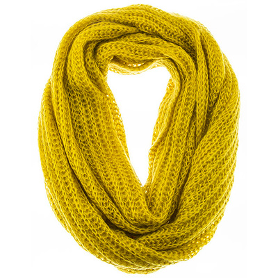 SKINNY CABLE  KNIT DESIGN INFINITY SCARF