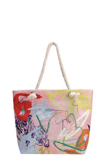 GRAFFITI CANVAS TOTE BAG