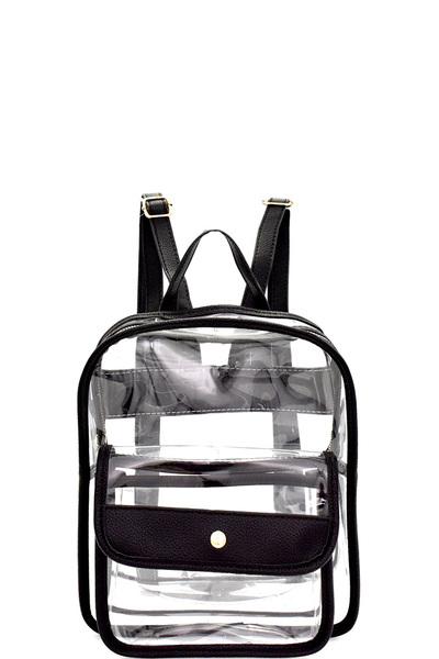 Transparent Clear Fashion Backpack