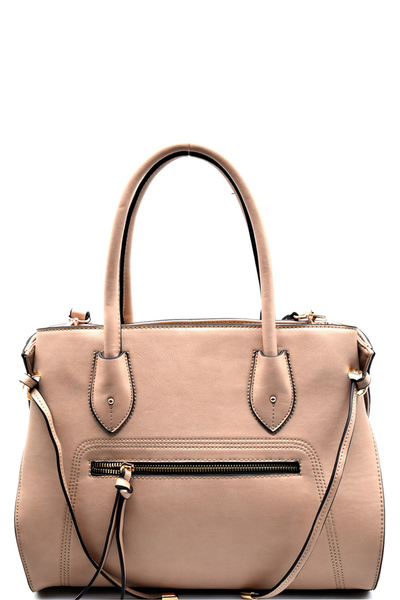Side String Accent 2 Way Satchel